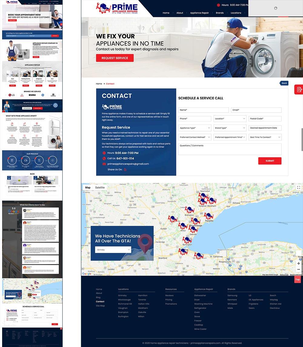 Appliance Repair Web Design
